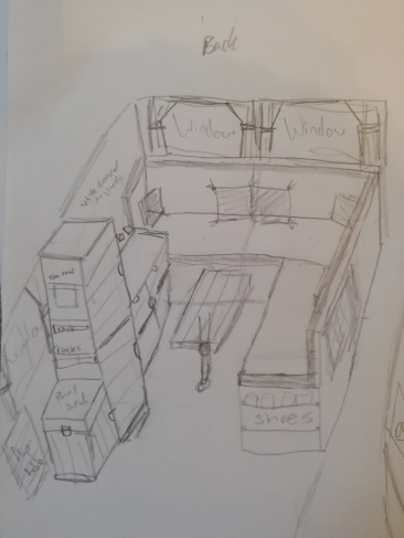 Back of the van - seating area